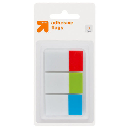Adhesive Flags 3 Pads 90ct Tabbed Multicolor - up & up™