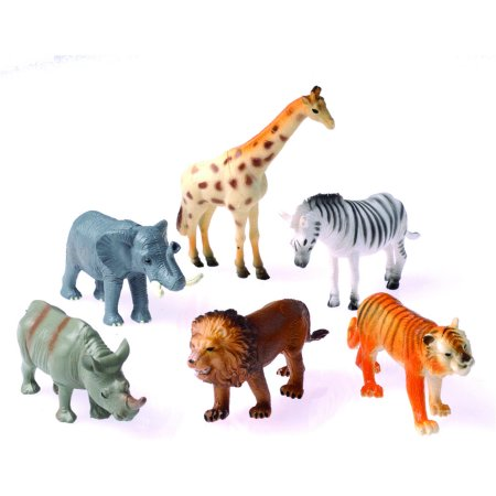 African Animal Set Diorama Recreation 12 Pack Toys 4