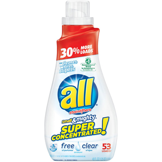 All Small & Mighty Free & Clear HEC Concentrated Liquid Laundry Detergent 40 oz