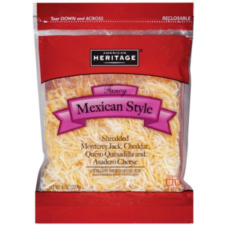 American Heritage® Fancy Shredded Mexican Style Cheese 16 oz. Bag
