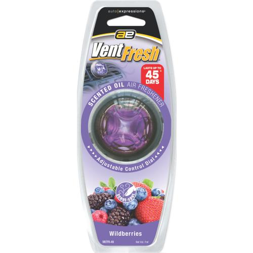 Auto Expressions Vent Fresh Scented Oil Wildberries Air Freshener EACH