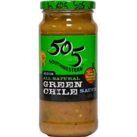 505 Southwestern All Natural Medium Green Chile Sauce, 12 oz