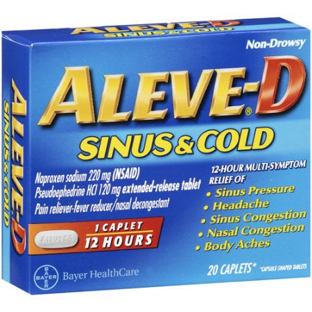 Aleve-D Sinus and Cold Naproxen, 20 CT