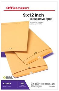Office Depot® Brand Clasp Envelopes, 9