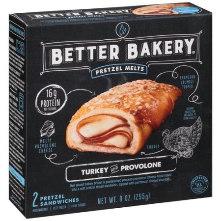 Better Bakery Pretzel Melts Turkey And Provolone, 2 ct.
