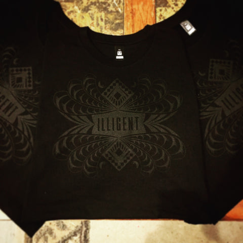 Men's Illigent Black on Black Breakout v1 T-shirt