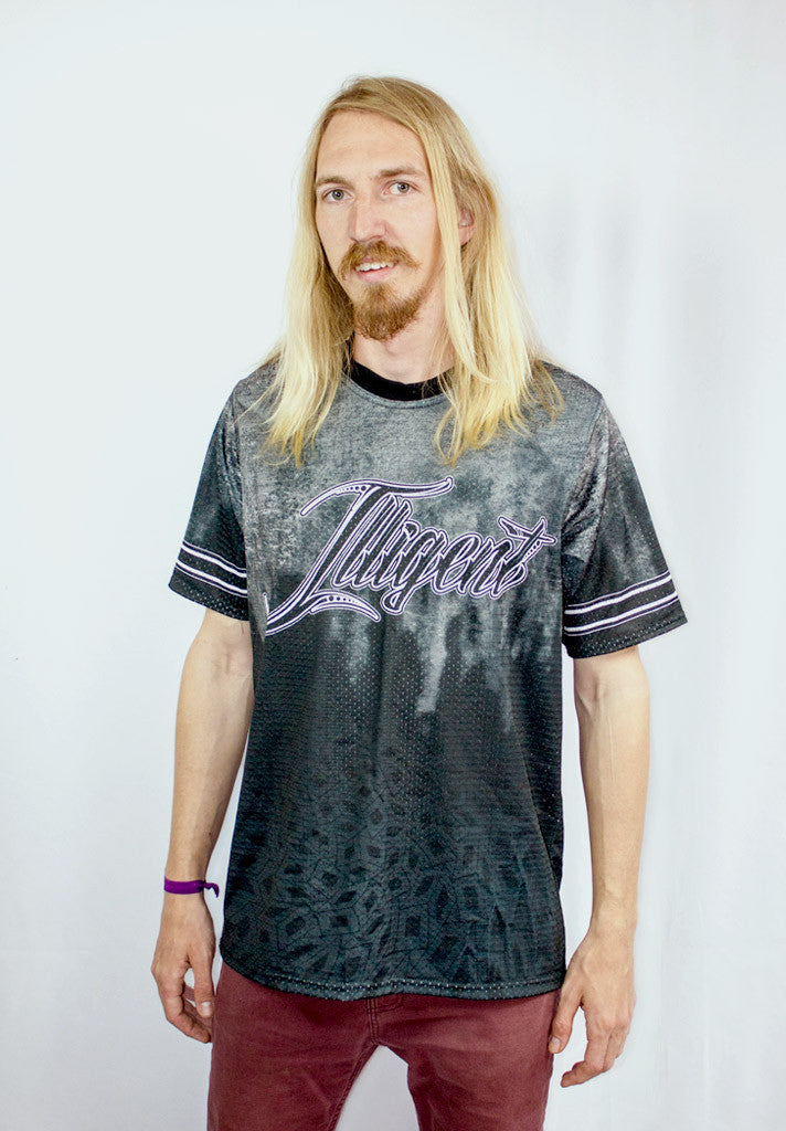 Illigent Apparel Mens Dark Illigence Jersey Front Top