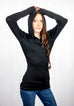 Illigent Apparel Womens Fresh Skin Hoodie Arms Up Front Top