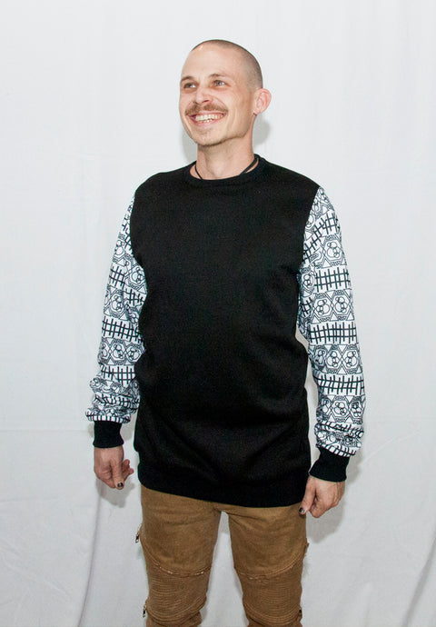 Men's Cross Bubble Crew Neck Sweater