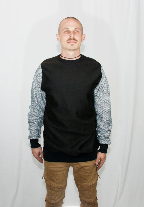 Men's Hex Line Crew Neck Sweater