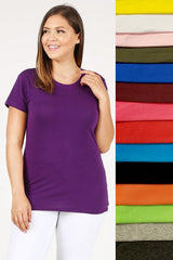 Top, Cotton Tee Plus Size