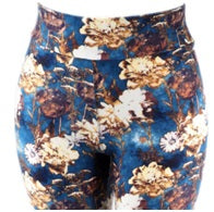 Leggings, Blueberry Floral