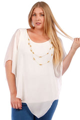 Top, Layered Chiffon Top