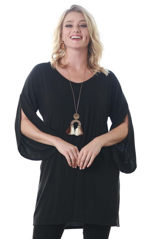 Tops, Knit Tunic with Tulip Sleeves