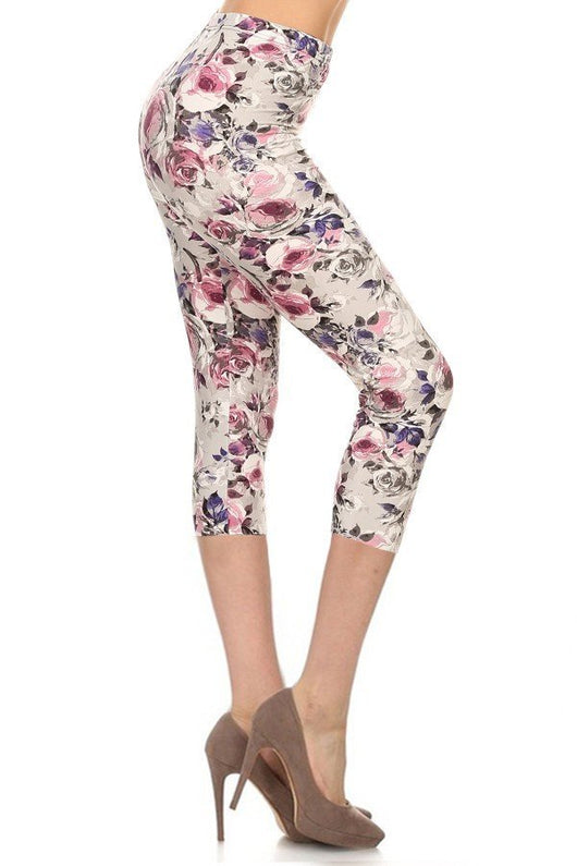 Leggings, Pink and Purple Floral