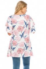Tops, Floral Print Tunic