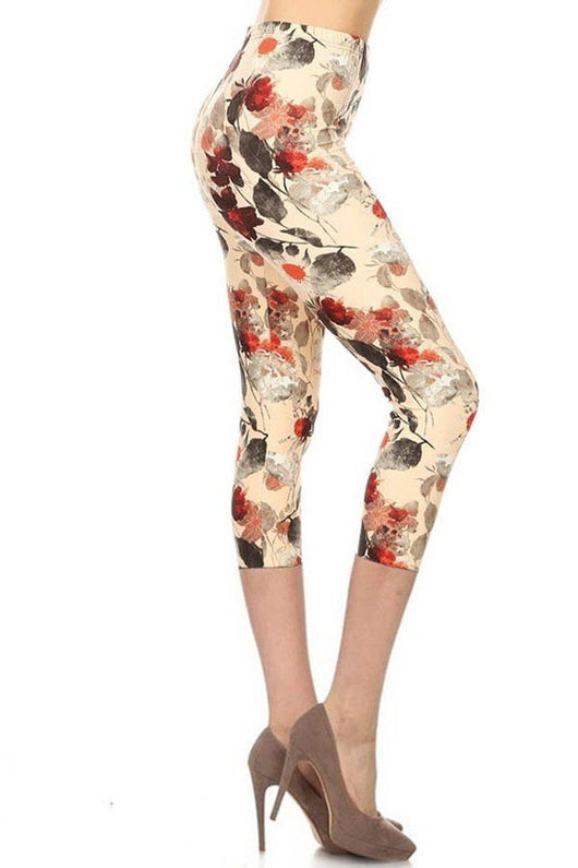 Leggings, Tan Floral