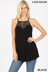 Top, Lace Sleeveless Halter Top