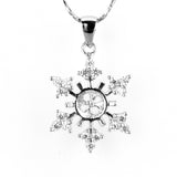 Snowflake Single-Pearl Pendant Mounting (Sterling silver)