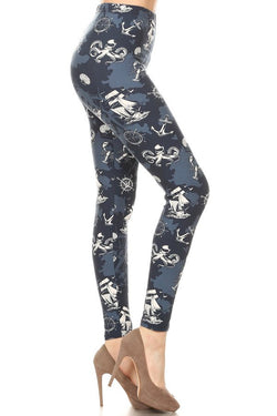 Leggings, Blue Nautical