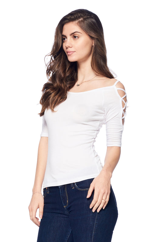 Tops, Cotton Elbow Sleeve