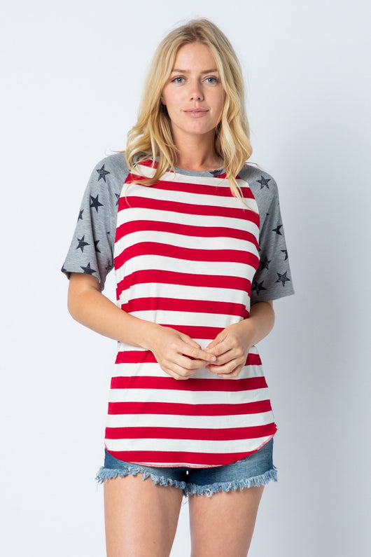 Top, Stars and Stripes Short Sleeve