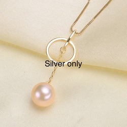 Circle Hanger Single-Pearl Pendant Mounting (Sterling silver)