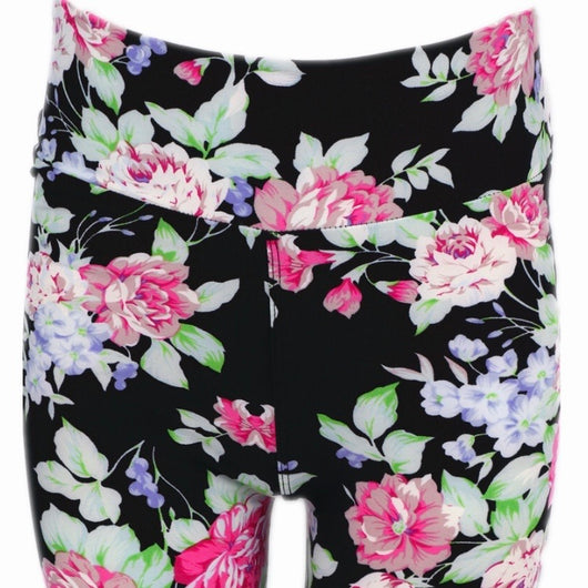 Leggings, Long Shorts Pink Floral