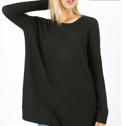 Tops, Brushed Thermal Round Neck Sweater