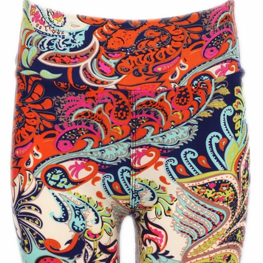 Leggings, Long Shorts Rainbow Paisley