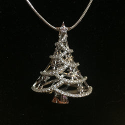 Christmas Tree Multi-Pearl Cage Pendant (Sterling silver)