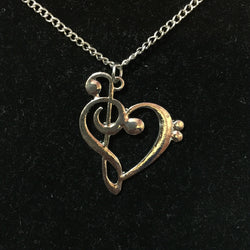 Music Note Heart Pendant