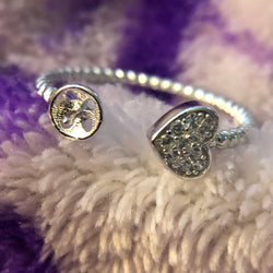 Heart Rope Ring Mounting (Sterling silver)