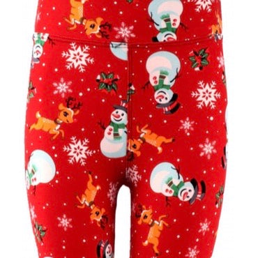 Leggings, Christmas Rudolph and Frosty