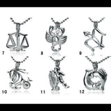 Zodiac Sign Single-Pearl Cage Pendant (silver plated)