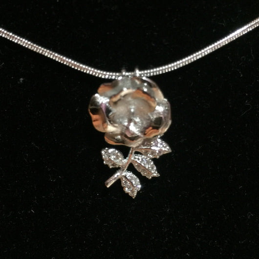 Rose single pearl pendant mounting sterling silver pearls rose single pearl pendant mounting sterling silver aloadofball Image collections