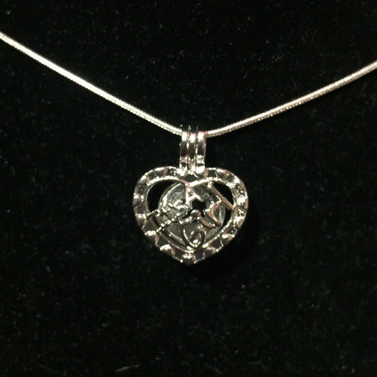 It's a Girl Single-Pearl Cage Pendant (Silver Plated)