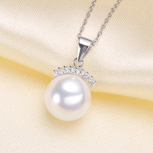 Gem Crown Single-Pearl Pendant Mounting (Sterling silver)