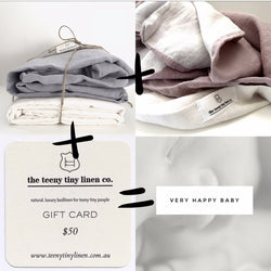 Pure linen cot bundle | Teeny Tiny Linen
