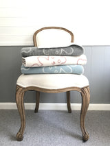 Pure wool teddy bear blankets on chair | Teeny Tiny Linen