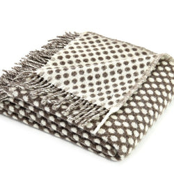 Spotty grey blanket pure wool | Teeny Tiny Linen