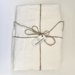 White pure linen sheet for kids|Teeny Tiny Linen