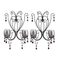 Black Elegant Wall Sconces-More Candleholders-Across The Counter
