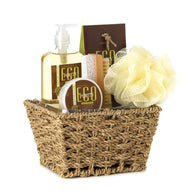 Eco Purity Bath Set In Basket-Bath and Body Gift Sets-Across The Counter