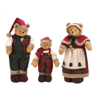 Plush Santa Clause Bear Family-Christmas-Across The Counter