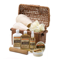 Vanilla Scented Bath And Body Basket Set-Bath and Body Gift Sets-Across The Counter