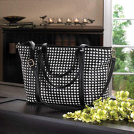 Checkered Tote Bag-Bags and Handbags-Across The Counter