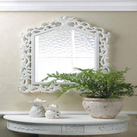 Fleur-de-lis Wall Mirror-Mirrors-Across The Counter