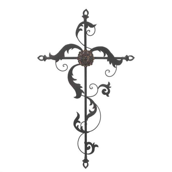 Baroque Wall Cross-Heavenly Decor-Across The Counter
