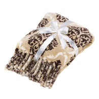 Baroque Tassel Throw Blanket-Blankets and Bedding-Across The Counter